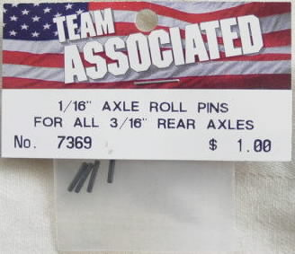 "1/16"" Axle Roll Pins for all 3/16"" Axles"