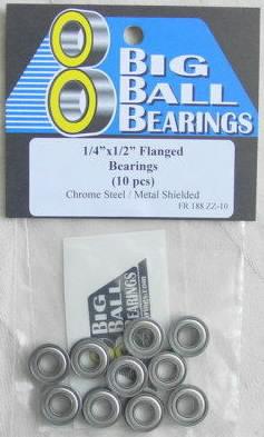 "1/4x1/2x3/16"" Flanged Metal Shielded Bearings"