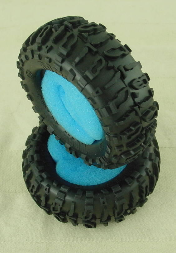 "Team Losi Blue compound 1.9"" Mini Rock Claw Crawler Tires (One Pair) LOSB1480B"