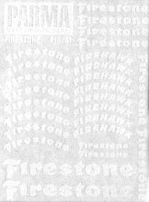 "Parma Firestone Tire Logo Decals 3""x4"""