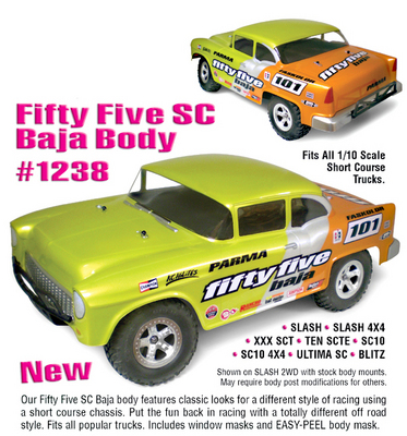 Parma Fifty Five SC Baja 1/10th Scale Unpainted Short Course Truck Body PAR1238
