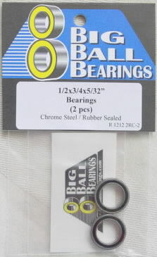 "1/2x3/4x5/32"" Rubber Sealed Bearings (2 Pieces)"