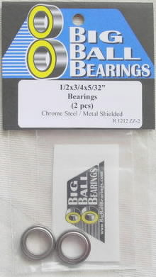 "1/2x3/4x5/32"" Metal Shielded Bearings (2 Pieces)"