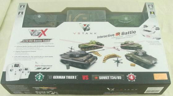1/72nd Scale German Tiger I/SovietT34/85 VS Radio Controlled Tank Battle Set VSKA03102354