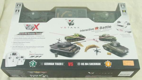 1/72nd Scale German Tiger I/Sherman M4 VS Radio Controlled Tank Battle Set VSKA03102666