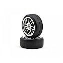 Traxxas 1/16th Scale Tires/Wheels Assembled Glued (2)  TRA7376A
