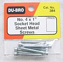 "#4 x 1"" Socket Head Sheet Metal Screws"