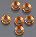 Axial AX-10/AX10 Scorpion Cone Washer 3x6.9x2mm Orange (6)