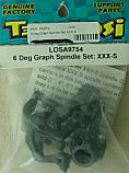 Team Losi 6 Degree Graphite Spindle Set/XXX-S  LOSA9754