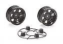 """Axial Racing 1.9"""" Black Rock CRC Wheels (2)  AXIAX31094"""