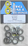 "1/2x3/4x5/32"" Metal Shielded Bearings (10 Pieces)"