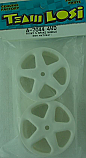 Team Losi 1/10th Scale 4WD Natural White Front 5-Spoke Wheels (2)/XX-4  LOSA7044