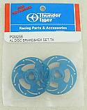 Thunder Tiger Sparrowhawk DX Blue Aluminum Disc Brake Set