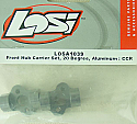 Team Losi Front Hub Carrier Set, 20 degree, Aluminum: CCR LOSA1039