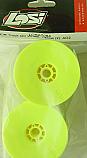 Team Losi Front/Rear Truck Quick Change Wheels, Yellow (2) AD2/XXX-T CR LOSA7064
