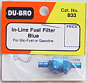Blue In-Line Fuel Filter by Du-Bro