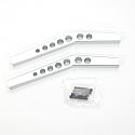 Axial Wraith HD Silver Aluminum Upper Suspension Links  STRSTA80083US