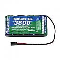 Hobbico HydriMax NiMH 4C 4.8V 3600mAh Flat Rx U  HCAM6333