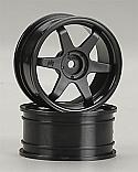 HPI Racing TE37 Black 6-Spoke 26mm Touring Car Wheels -3mm Offset