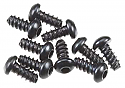 Axial Racing Hex Socket Tapping Button Screws M2.6 x 6mm Black (10)  AXIAXA0422