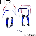 Hot Racing 1/10th Scale Front/Rear Sway Bar Set/4WD Slash/Rally  HRASLF311
