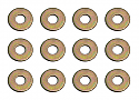 "Team Associated 1/8"" Flat Washers 4-40 (12)"