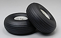 "Great Planes Rubber Treaded Wheels 2-1/2"" (2)  GPMQ4223"