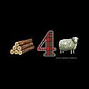 Wood 4 Sheep T-shirt (XL) by Off World Designs  OWD23004-XL