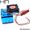 Hot Racing 1/10th Scale Tamiya Blue 2 way Top Fan Cool Heat Sink  HRAMH550T16