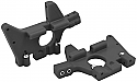 Traxxas T-Maxx/E-Maxx Upgraded Black Front Bulkheads by RPM RPM81062 4930 4930R