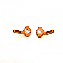 Axial 1/10th Yeti/EXO Orange Machined Aluminum Steering Knuckles SPTSTA31110O