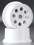 HPI Racing 1/5 Baja 5T/5SC Truck Rear Outlaw White Wheel 10mm Offset (2)