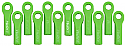 RPM 1/10th Scale Long Rod Ends (12)/Traxxas Series Vehicles GREEN  RPM80514