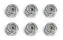 Team Associated 1/10th Scale Front Wheel Locknuts 4-40 (6)  ASC6242
