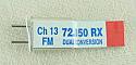 Airtronics Dual Conversion 72Mhz FM Receiver Crystal - Channel 13 72.050Mhz PDV9730013