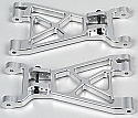 GH Racing/Alum Lower Arms (Silver)/HPI/Savage/X/XSS/Flux GHH02052S