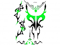 "Racers Edge 7 x 8"" Green Tribal Decal Sheet by SIC Designs  RCESIC006"