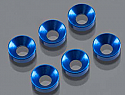 Axial AX-10/AX10 Scorpion Cone Washer 3x6.9x2mm Blue (6)