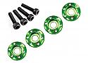 LaTrax 1/18th Scale 3 x 12mm Wheel Nut Washers - Green/Teton  TRA7668G