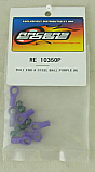 Purple Ball Ends & Steel Balls for Traxxas Trucks (6pcs)