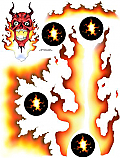 "Racers Edge 7 x 8"" Devil Fire Decal Sheet  RCESIC003"