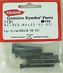 Kyosho M4 Steel Cap Head Screws 4 x 35, 4 x 40, 4 x 45  KYO1131