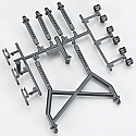 Axial Racing 1/10th Scale Body Mounts Parts Tree/SCX10  AXIAX80031
