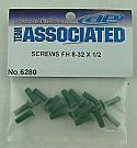 "Team Associated Aluminum Flat Head Screws 8-32 x 1/2"" (16)  ASC6280"