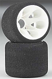 Jaco Prism 1/12th Scale Pink 30SH Mounted Foam Rear Tires JAC2930
