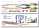 Traxxas Villain EX R/C Boat Decal Sheet