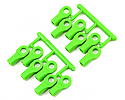 RPM 1/10th Scale Short Rod Ends in Green (12)/Traxxas  RPM80474