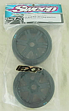 Sweep Racing Kyosho Inferno 1/8 GT2  EXP 45 Slick Tires Mounted on Black Wheels