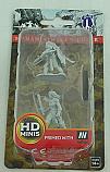 Dungeons & Dragon D&D Pathfinder Deep Cuts Miniatures: Human Female Fighter WZK72597