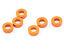 Axial 2x3x6mm Orange Alloy Spacers for Rock Crawlers (6pcs)